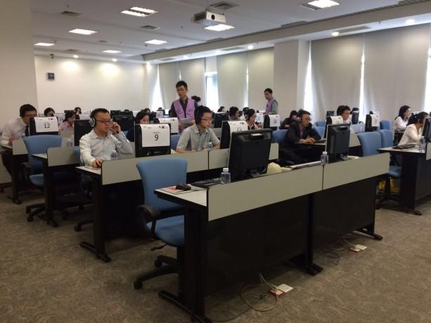 同日,在招商銀行進行TOEIC托業說寫考試。